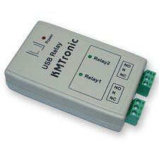 KMTronic USB 2 Relay Controller, RS232 Serial controlled, BOX