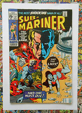 SUB-MARINER #37 - MAY 1971 - DEATH OF LADY DORMA! - FN- (5.5) CENTS COPY!