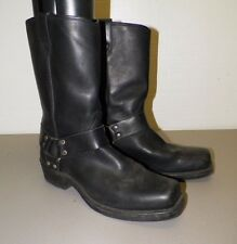 MEN'S DINGO BLACK LEATHER HARNESS BOOTS SZ 11 D GOOD USED WORN MINIMALLY