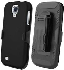 BLACK CASE + HOLSTER BELT CLIP + SCREEN PROTECTOR FOR SAMSUNG GALAXY S4 IV PHONE