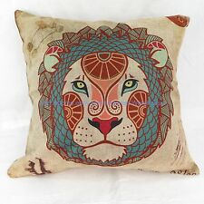 Leo Zodiac Symbol cotton linen cushion cover hippie bohemian sofa pillow