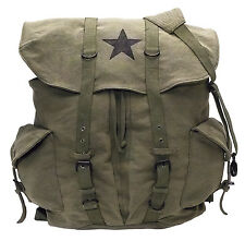 olive drab large canvas pack backpack vintage weekender black star rothco 9158
