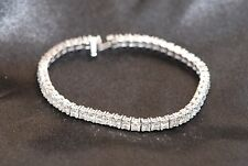 NWT Princess Cut 9.75 TCW Diamond Tennis Bracelet (51 3 mm stones) G-H/VS1
