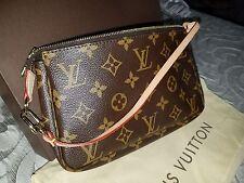 Louis-Vuitton LV Pochette Monogram Shoulder Handbag Purse AUTHENTIC