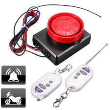 Motorcycle Bike Remote Control Anti-theft Alarm System Security Engine Start 12V