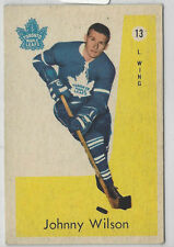 1959-60 PARKHURST # 13 JOHNNY WILSON  NICE CARD
