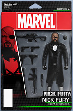 NICK FURY #1 CHRISTOPHER ACTION FIGURE VARIANT SHIELD MARVEL COMICS