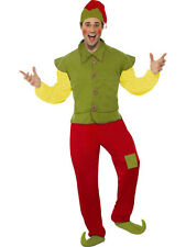 Smiffy's Cool Yule Christmas Elf Mens Costume Adult Size Medium
