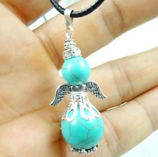 Natural mixing bead & alloy wing Pendant Handmade Gemstone Jewellery Necklace