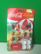 "Coca-Cola Fast Food Fun Accessories for 11.5-12.5"" Dolls (Barbie) Figures"
