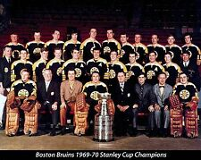 BOSTON BRUINS 1969-70 TEAM 8X10 PHOTO HOCKEY PICTURE NHL STANLEY CUP CHAMPS