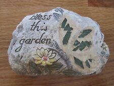 Garden Themed Stepping Stone Decor - Bless This Garden