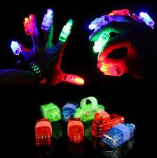 4XFinger caldo Luci LED Beams Accessori Per Feste Laser Anelli Rave Neon