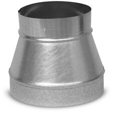 "8"" x 6"" Galvanized Steel Metal Round Air Duct Reducer Connector Coupling Heating"