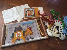 Vtg Wooden Needlework  Lap Frame Embroidery, Creative Circle Kit #1513 ,yarn Org