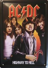 AC/DC Blech Schild 15x20cm Metal Tin Sign Highway to Hell Angus Young