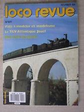 LOCO REVUE n° 501/fév 88 TGV ATLANTIQUE JOUEF. Pont sur l'ARDECHE