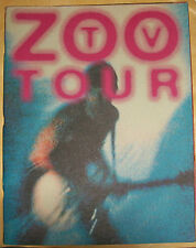 U2 1992 ZOO TV TOUR US Program Book from Cleveland, BONO, THE EDGE, ADAM, LARRY