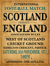 Scotland Football Metal Sign, Vintage Sports Poster, Mancave Decor