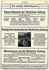 Illustrirte Zeitung Leipzig Werbung für Frauen-Nummer & Sonderdrucke Ad 1910