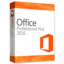 Original Office Professional Plus 2016 32/64BIT LICENSE KEY & DOWNLOAD SCRAP PC