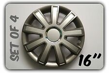 "SET OF 4 16"" UNIVERSAL WHEEL TRIMS COVER,RIMS,HUB,CAPS TO FIT PEUGEOT +GIFT #9"