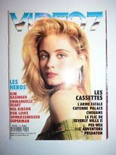 Magazine VIDEO 7 french #81 septembre 1988 cover Emmanuelle Beart