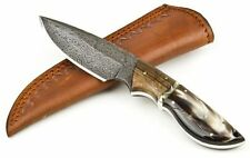 CUSTOM HAND MADE DAMASCUS 8'' fabulous OUT DOOR HUNTING KNIFE . WITH SHEATH