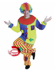 New Big Men Clown Clowns Patch Work Halloween Costume Party Top Pants COS16