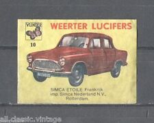 WEERTER-10/CARS/Simca Etoile Matchbox Labels/Lucifer-Etiketten