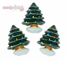 6 x Cute Christmas Tree & Snow Festive Xmas Flat back Cabochons Decoden Kawaii