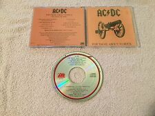 AC/DC FOR THOSE ABOUT TO ROCK WE SALUTE YOU  ORIG USA ATLANTIC A2-11111 CLUB CD