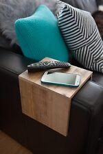 """Custom Sized Upcycled Tasmanian Made Oak Couch Sofa Arm Table """"Couchmate"""""""