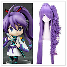 Anime VOCALOID Gakupo 120cm Long Purple Cosplay Ponytail Full Hair Wig