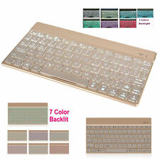 Thin Universal 7 Colors Backlit Bluetooth Keyboard For iPad IOS Android Windows