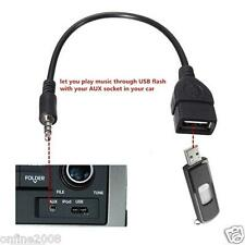 3.5mm Male Audio AUX Jack to USB 2.0 Type A Female OTG Converter Adapter Cable