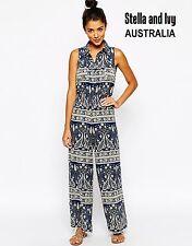 paisley boho playsuit jumpsuit size 8 au womens new