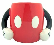 NEW DISNEY Mickey Mouse Figural Ceramic Coffee Cocoa Tea Mug Cup Red So CUTE!