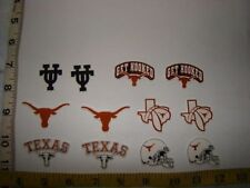 12 Texas Longhorns Fabric Applique Iron On Ons