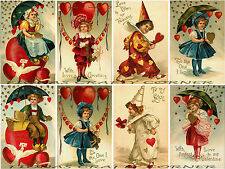8 VALENTINE'S DAY & LOVE RETRO  HANG / GIFT TAGS FOR SCRAPBOOK PAGES (05)