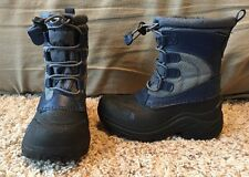 The North Face Alpenglow Boys Size 12 Waterproof Blue Snow Boots - EUC!