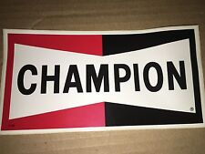 Vtg Champion Spark Plug Decal Sticker Car Racing Nascar NHRA Advertising Display