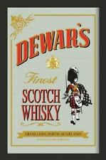 Dewars finest Scotch Whisky Nostalgie Barspiegel Spiegel Bar Mirror 22 x 32 cm