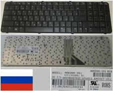 CLAVIER QWERTY RUSSE HP COMPAQ 6830 6830S V071326BS1 6037B0027622 Noir