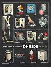 PUBLICITE ADVERTISING 084  1958  PHILIPS   éléctroménager