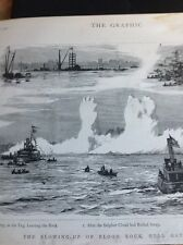 K3-1 Ephemera 1885 Picture Blowing Up Of Flood Rock Hell Gate New York