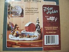 WILD WINGS COLLECTION PLATE HOLDER Seasons End-Mallards by David Maass  NEW