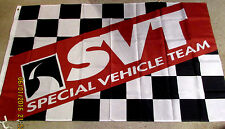 FORD SVT 3x5 FEET DEALER FLAG BANNER LIGHTNING MUSTANG COBRA F150 RAPTOR HARLEY