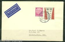 GERMANY  1959 COMMEMRCIAL COVER TO LINN'S STAMP NEWS WITH 10 XHRISTMAS SEALS
