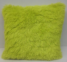 "New Cushion Plush long hair Faux Fur Teen Bedding Throw Pillow 18""  Lime Green"